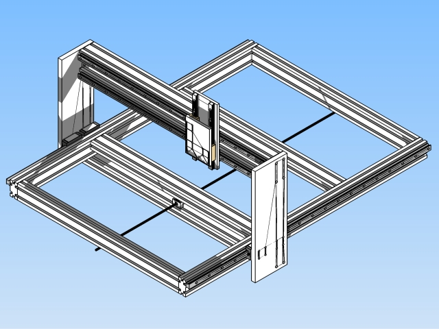 Frame voor CNC freesbank